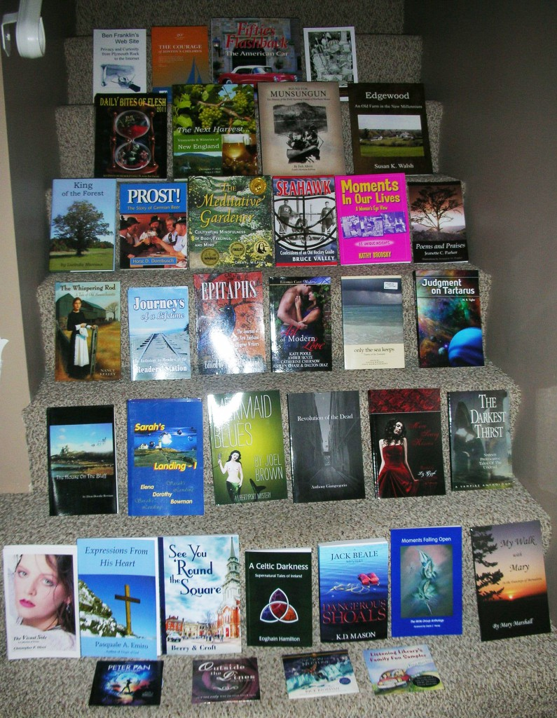 Books donated by New England authors for US Troops overseas