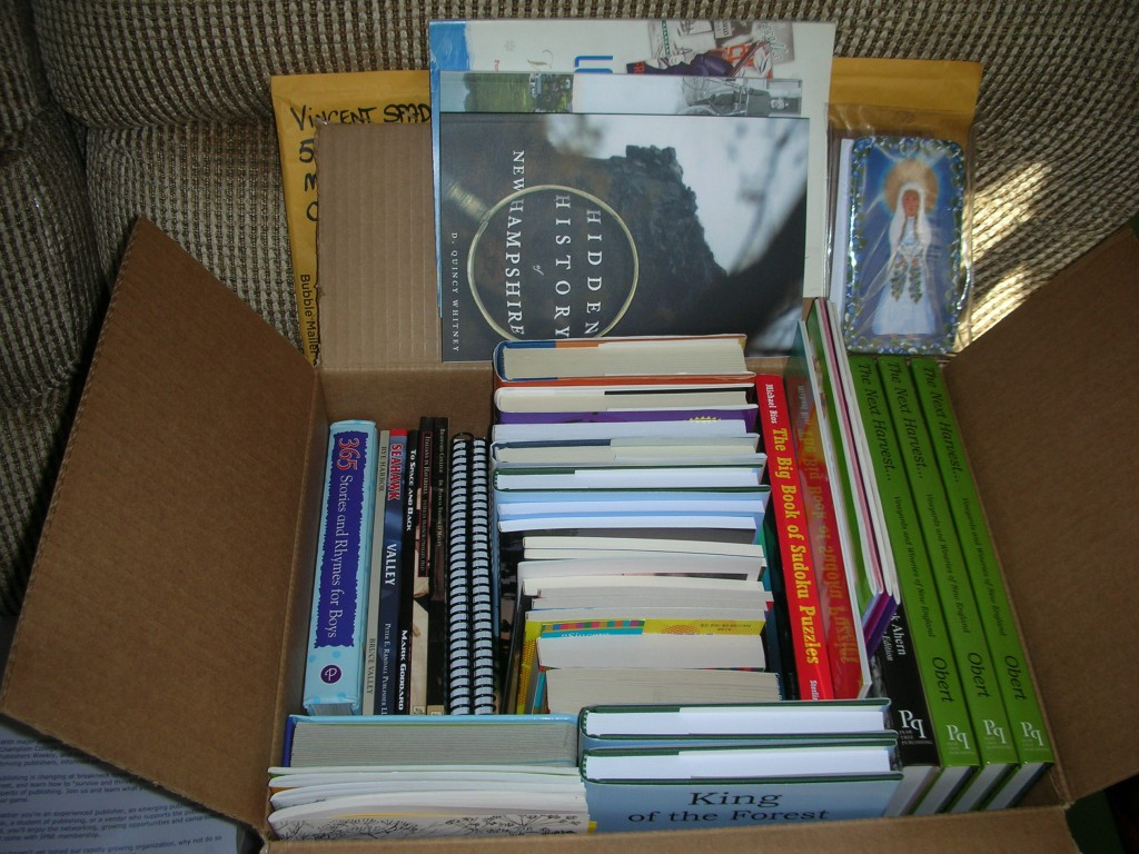 Some of the books donated to the charity.