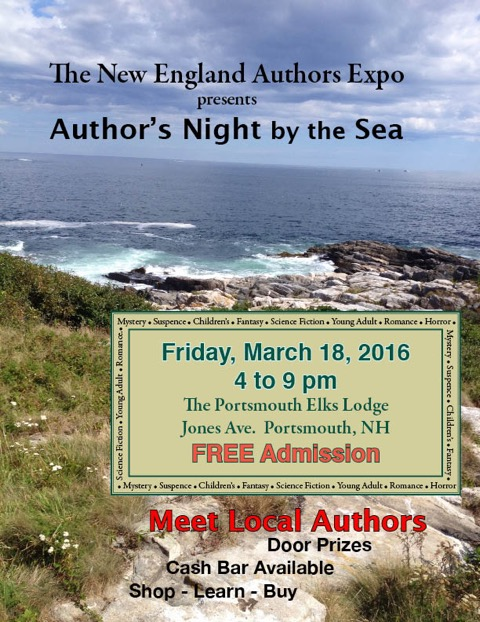 2016 Author's Night by the Sea flyer